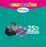 Ofertas de Pepe Ganga, Cumpleaños Pepe Ganga - 25% de descuento en Deportes