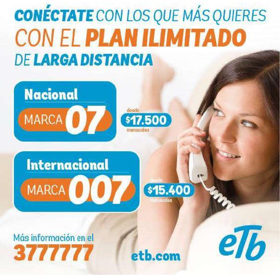 Ofertas de ETB, Plan ilimitado de larga distancia