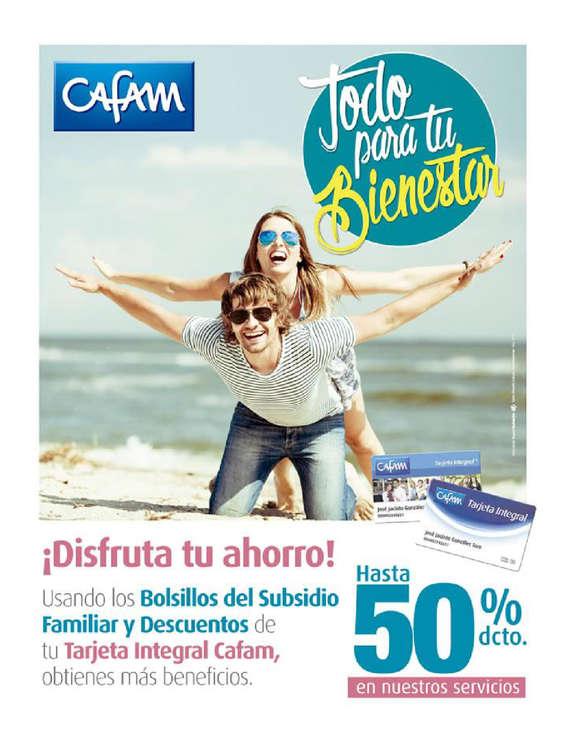 Ofertas de Droguerías Cafam, Tarjeta Integral Cafám