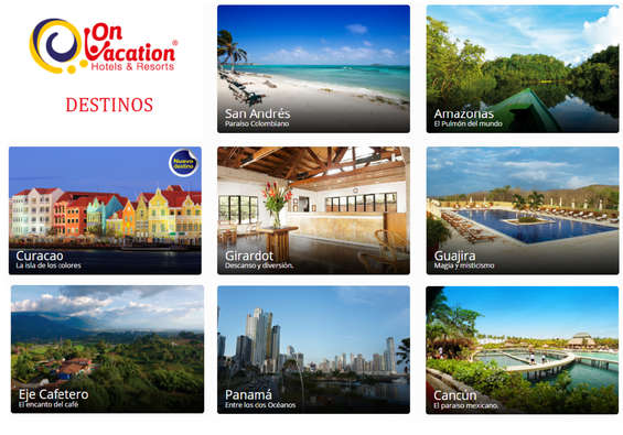 Ofertas de On Vacation, Destinos