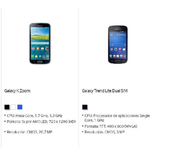 Ofertas de Distribuidor Samsung, Smartphones