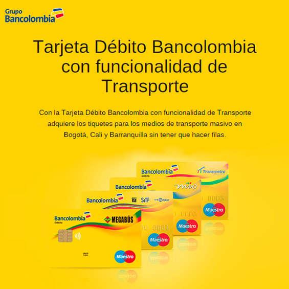Ofertas de Bancolombia, Tarjeta Débito Bancolombia