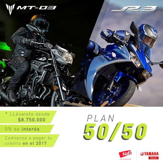 Ofertas de Yamaha Motors, Plan 50 / 50