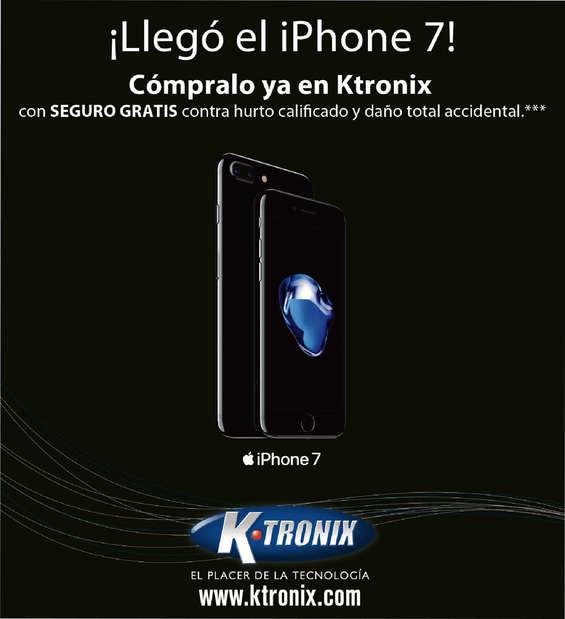 Ofertas de KTronix, Ktronix Bogotá Septiembre  - ¡Llegó el Iphone 7!