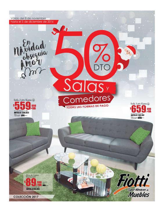 Ofertas de Fiotti Super Almacén de Muebles, En navidad obsequia amor - 50% de desceutno en salas y comedores