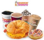 Ofertas de Dunkin' Donuts, Menú Dunkin' Donuts