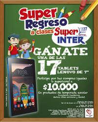 Súper regreso a clases - Gánate una de las 17 tablets Lenovo