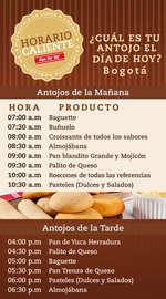 Horario caliente - Bogotá