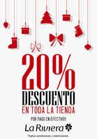 Ofertas de La Riviera, 20% de descuento en toda la tienda