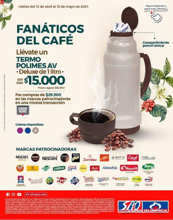 Ofertas de Super Tiendas Olímpica, Fanáticos del café