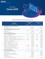 Ofertas de BBVA, Tarifa Comex2020