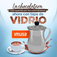 Chocolatera Con Tapa De Vidrio