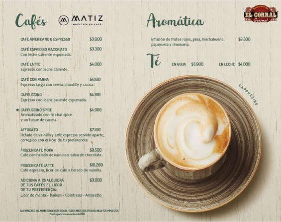 Ofertas de El Corral Gourmet, Café Y Postres