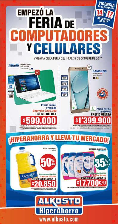 Ofertas de Alkosto, Empezó la feria de computadores y celulares - Bogotá