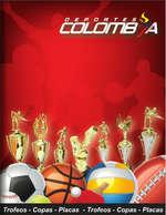Ofertas de Deportes Colombia, Catálogo de trofeos, medallas y placas