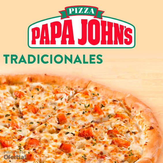 Ofertas de Papa John's, Papa Johns tradicionales