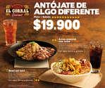 Ofertas de El Corral Gourmet, Antojos