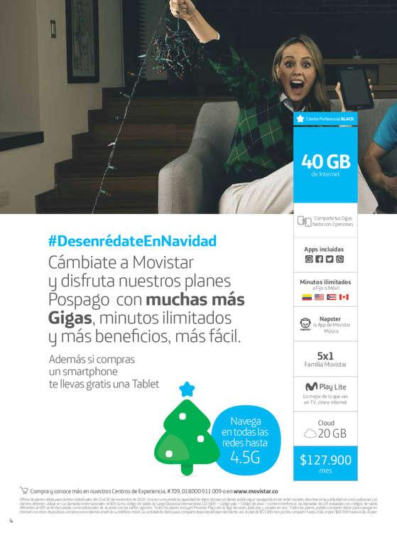 Ofertas de Movistar, Catalogo Movistar