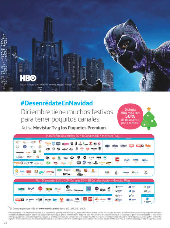 Ofertas de Movistar, Catalogo Movistar