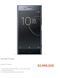 Smartphones Xperia