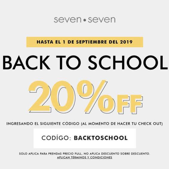 Ofertas de Seven Seven, Back To School