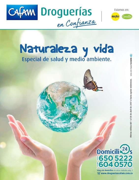 Ofertas de Droguerías Cafam, Naturaleza y vida - Especial de salud y medio ambiente