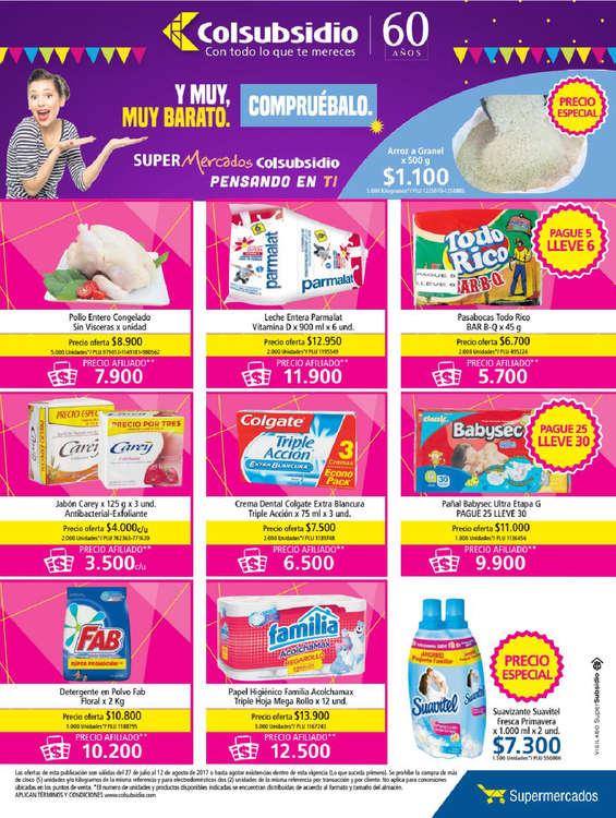 Ofertas de Supermercados Colsubsidio, Supermercados Colsubsidio, Pensando en ti