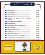 Ofertas de Sopas de Mamá y Postres de la Abuela, La Carta