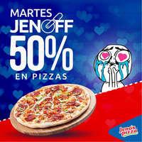 Martes JenOff 50% en pizzas