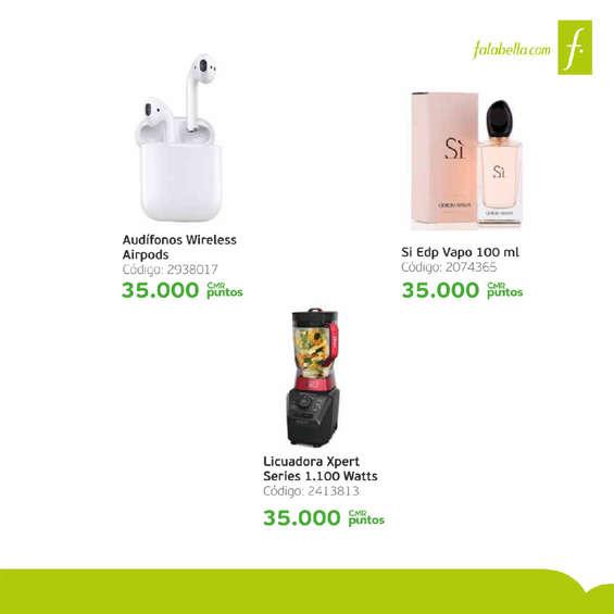 Ofertas de Banco Falabella, Catálogo Cuenta Nómina