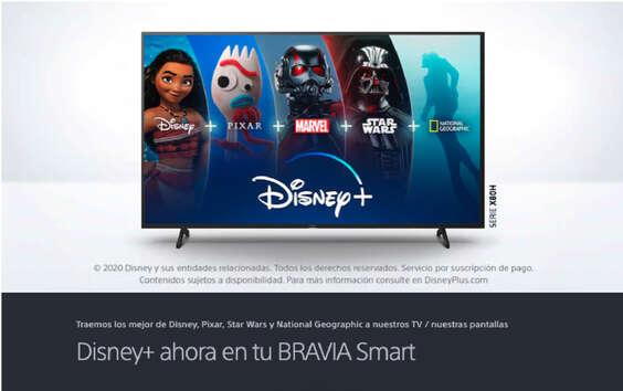 Ofertas de Sony, Disney Plus ahora en Bravia